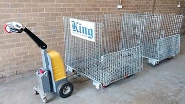 KING WIRE MESH STORAGE CONTAINERS